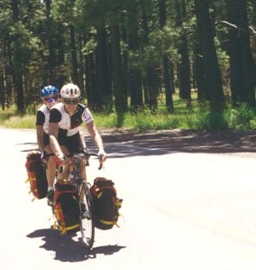 Riding in New Mexico Forest