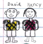 Artistic impression of Dave & Nancy