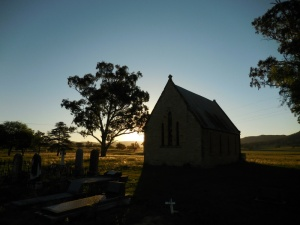 Bylong Church at dusk
