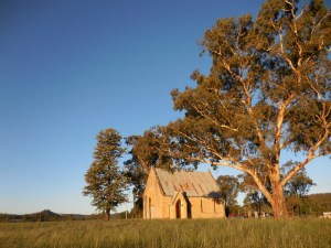Bylong Church at sunset