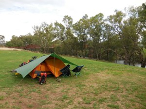 Camping on the river in Wellington 4