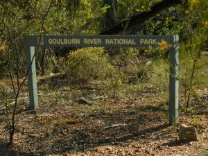 Goulburn River National Park sign