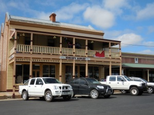 Utes and a saddlery - small town Australia
