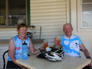 Happy campers at Wollombi Pub
