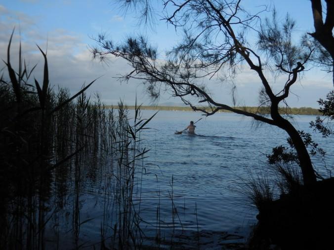 Early morning kayaker