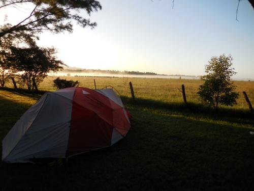 Our campsite overnight