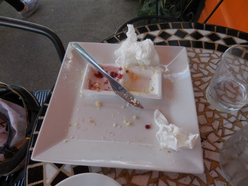 Woops - this was scones and cream