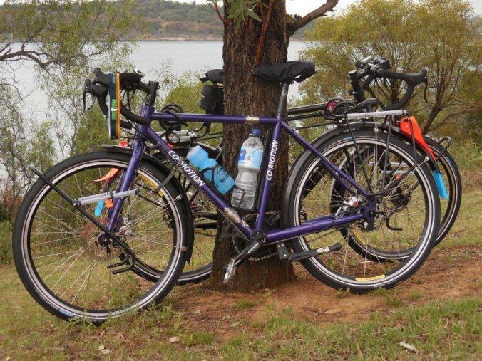 Bikes at Glenbawn Lake