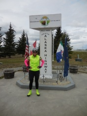 Nancy at the start of the AlCan (2)