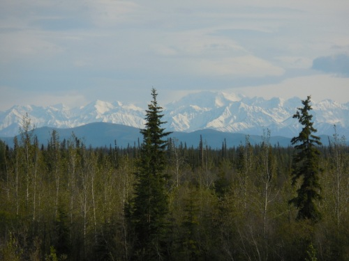 Wrangell Mountains at dusk