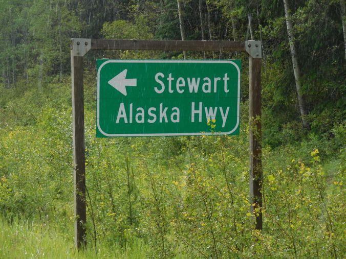 Alaska that way...