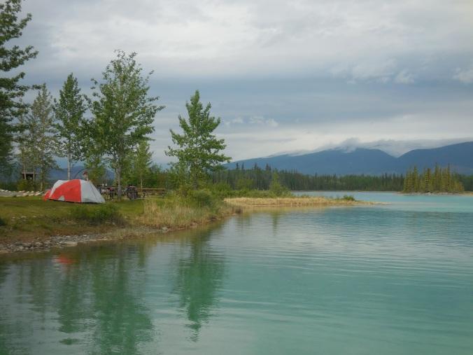 Boya Lake camp site 2