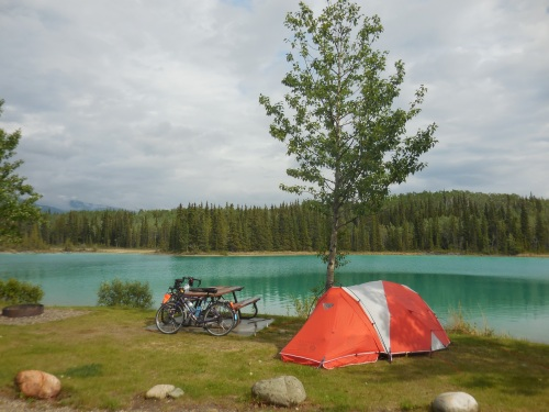 Boya Lake camp site