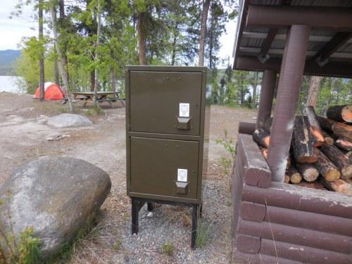 Camp food bear lockers 1