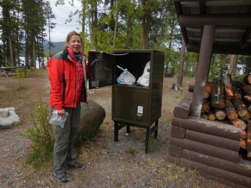 Camp food bear lockers