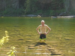 Dave in the lake