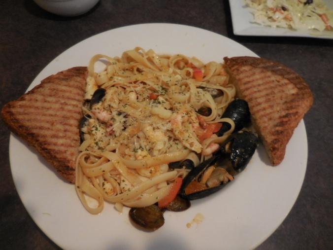 Dolly's seafood stir-fry