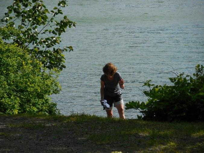 Nancy in the lake