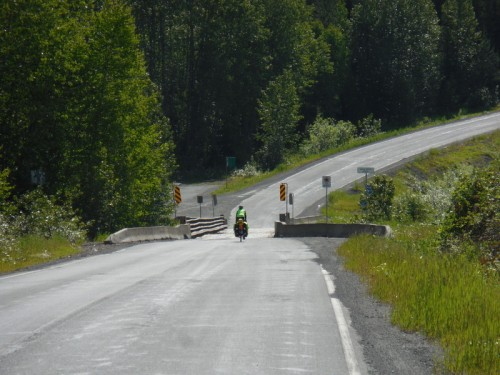 One lane bridge on the Cassiar