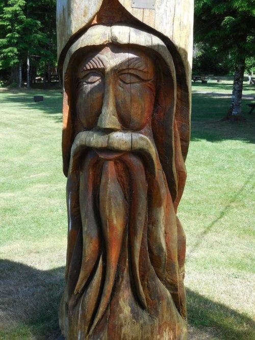 Wood - old man