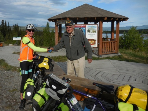WWII Vet and 1988 CC bicycle rider - a real treat to meet