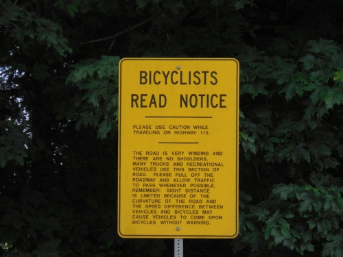 Biker warning sign 1