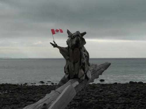 Canada driftwood art