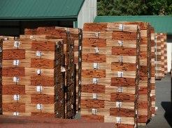 Cedar shakes mill output