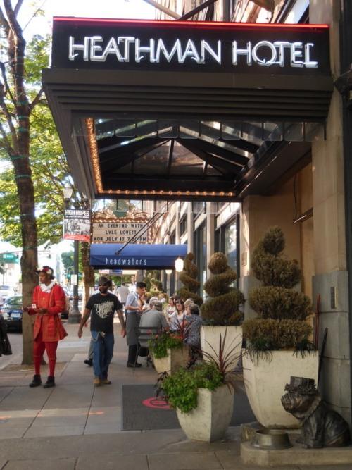 Heathman Hotel with doorman