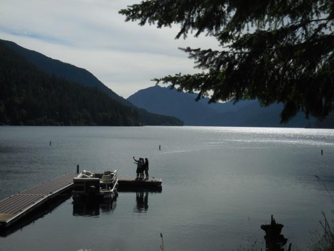 Lake Cresent family selfie