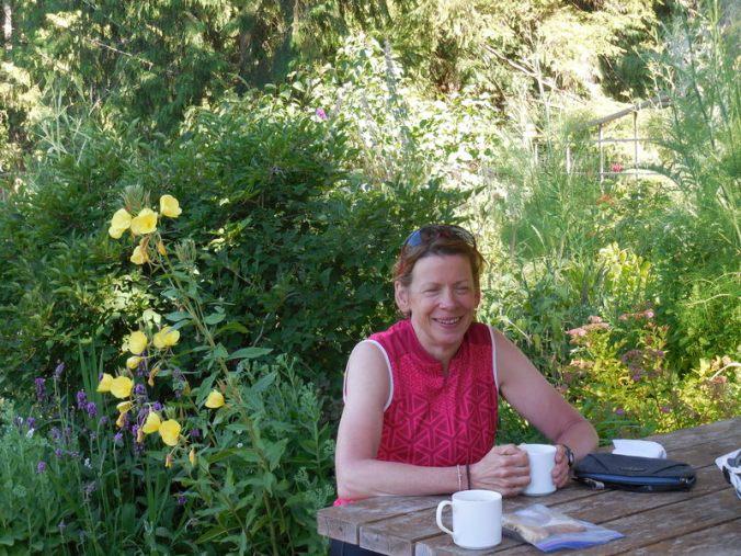 Nancy in the garden