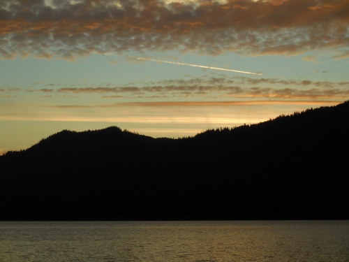 Sunset at Lake Quinault 1