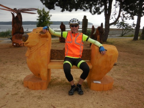 Willow Point - Bear bench carving