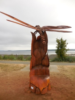 Willow Point - Dragonfly carving