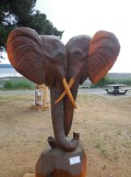 Willow Point - Elephant heads carving