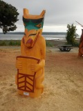 Willow Point - First Nations carving