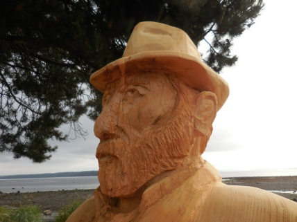 Willow Point - Vincent carving 1