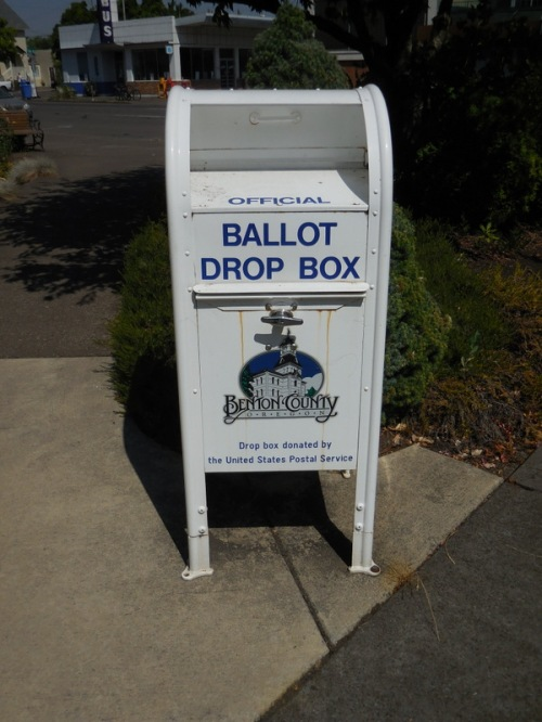 Corvallis voter booth