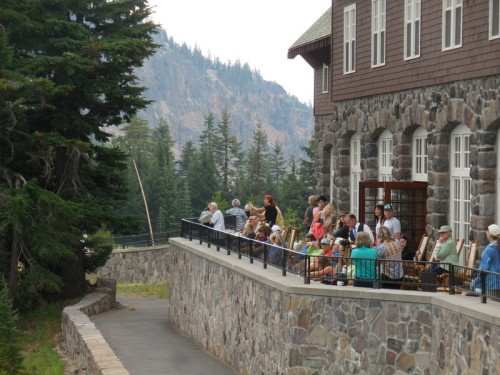 Crater Lake lodge sundeck