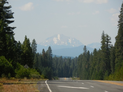 End of day, looking way back at Mt Lassen