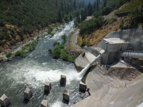 Lake Britton Dam runoff