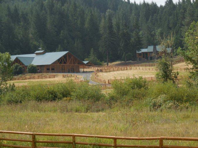 Massive barn and house