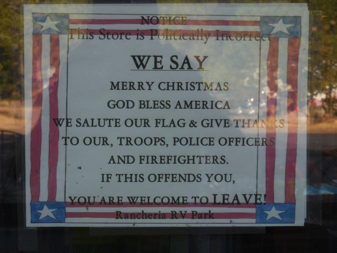Rancheria store sign