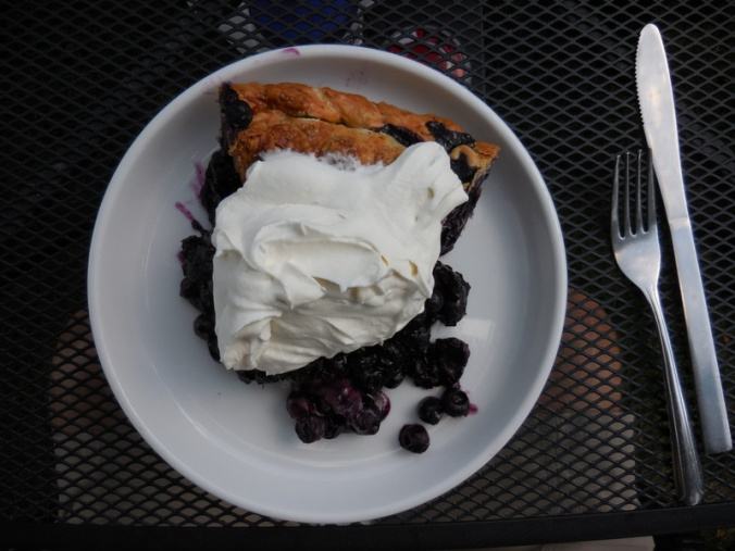 Blueberry Pie at dinner