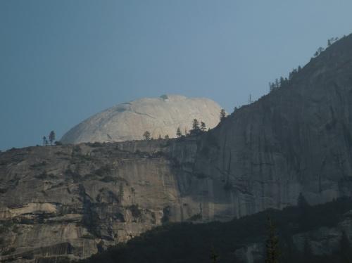 Half Dome peeking