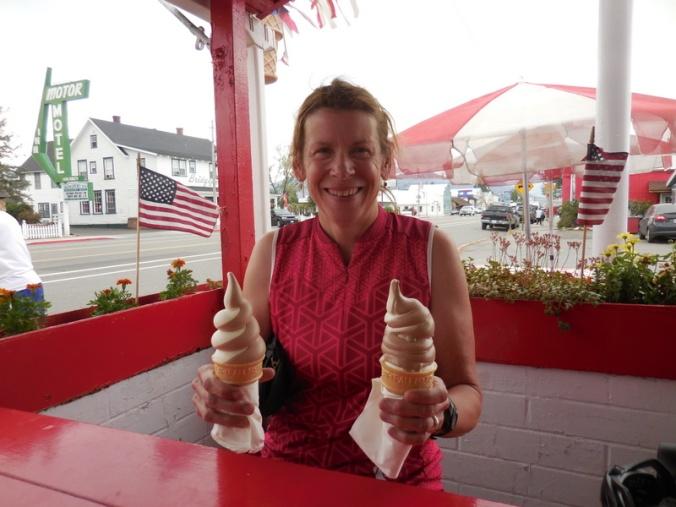 Nancy gets icecream