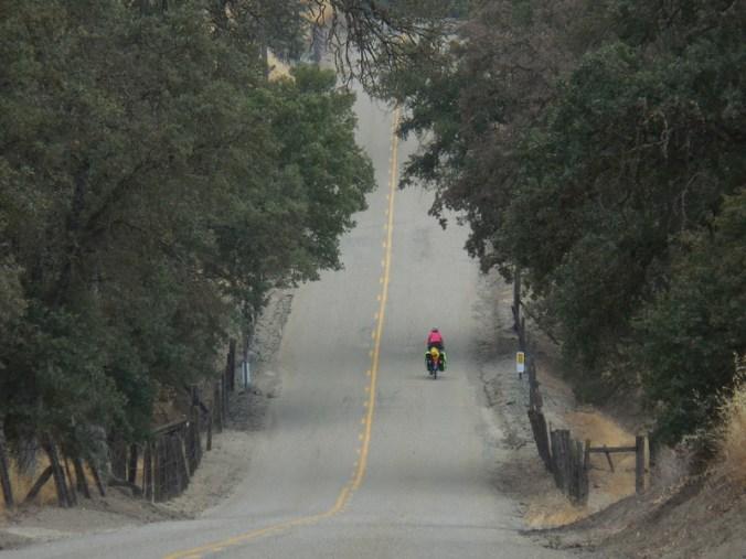 Nancy riding the back roads