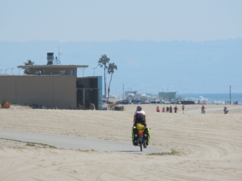 Nancy riding the sands