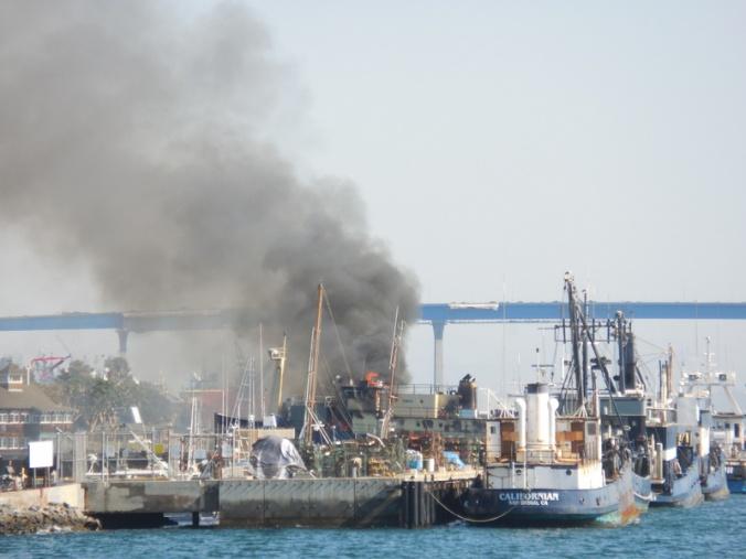 Norton Sound on fire 1