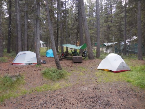 Our camp at Tuolomne Meadows
